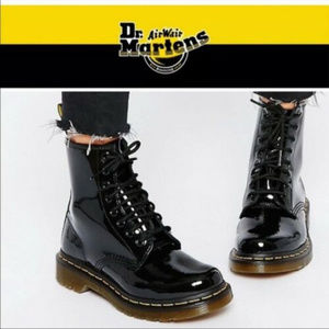 Dr Martens boots 7 Black Patent Leather High Top